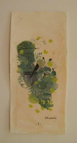 monotipe, oil,ink,pencil/paper 8 x 5 cm.