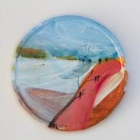 Acordes para un pequeño sueño- mixed media/cardboard 11 cm. Ø S O L 2012