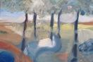 Silencio5-pintura musical óleo/lienzo 40 x 50 cm S O L 2013