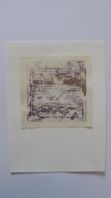 monotipo con técnica mixta de dos tintas/papel de110g- 12 x 12´5 cm.