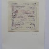 Monotipo de dos tintas/papel de 110 gr.-12 x 12´5 cm.