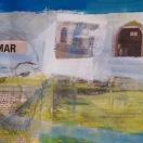 experiments óleo/papel de periódico/marca digital 30 x 20 cm S O L 2013