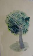 acuarela, tinta china/papel 8 x 5 cm S O L 2012