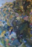 -.Un baile en las nubes.- técnica mixta/lienzo 65 x 50 cm S O L 2011