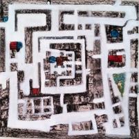 -.Todas las ciudades esconden sus tesoros en un laberinto.-Exposición ARTE Y ARQUITECTURA,Sevilla 2016.